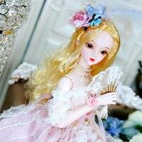 Лучший популярный 1/3 BJD кукла с золотым завитком длинные волосы 62 см новый изысканный ручной работы высокое качество игрушки для девочек