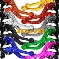 10 cores moto cnc 3d curta alavanca para suzuki gsxr 1000 600 750 GSX S1000 F ABS Da Motocicleta CNC Ajustável Alavancas de Freio de Embreagem 3D