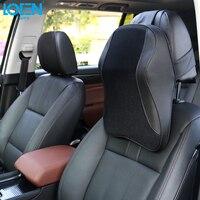 Loen 1PCS Car Pillow Neck Support Headrest Memory Foam PU Leather Breathable Mesh Trip Rest Pillows