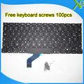 """5 UNIDS --- Estrenar AZERTY teclado FR Francés teclado + 100 unids tornillos Para MacBook Pro Retina 13.3 """"A1425 2012 Año"""
