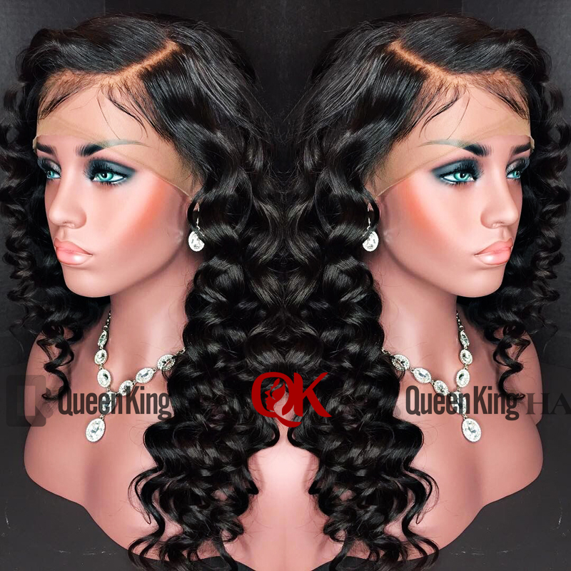 QueenKing Hair Lace Front Human Hair Wigs PrePlucked With Baby Hair Brazilian Remy Hair Deep Wave