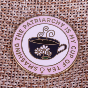 Image 1 - Smashing the patriarchy Lapel Pin feminist women gifts The Future is Female Brooch Enamel pin