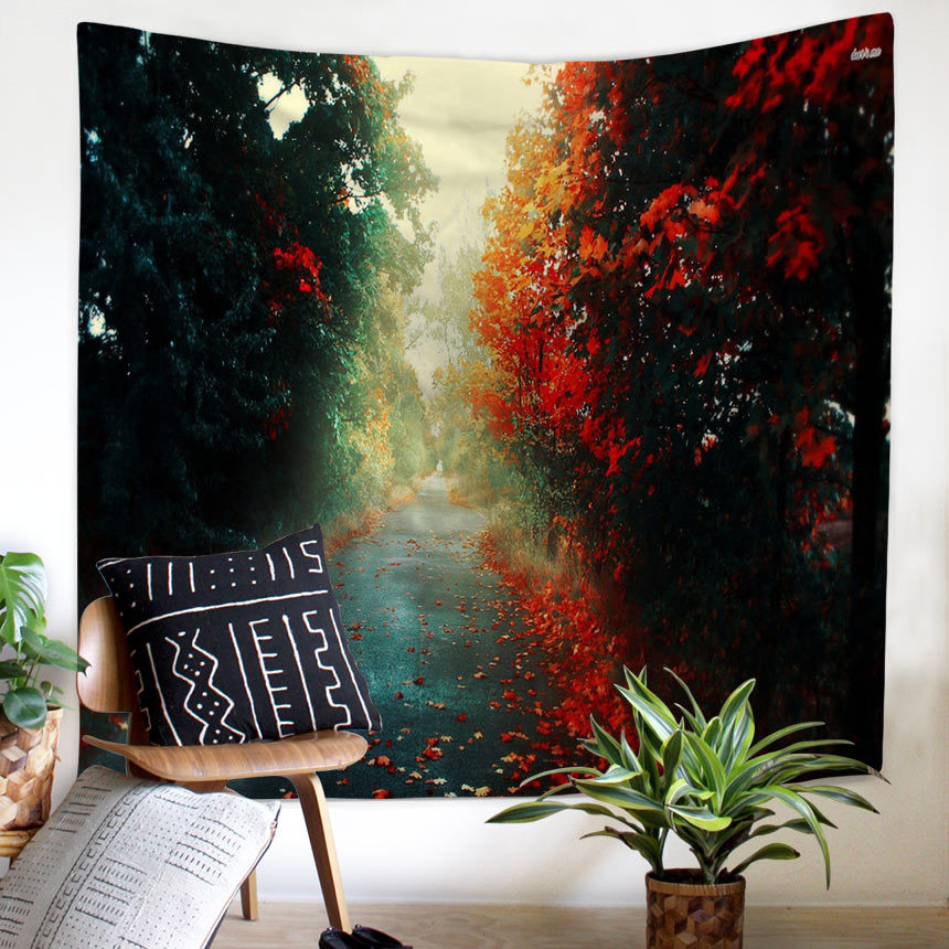 Image 2 - Natural Scenery Sun Moon Psychedelic Indian Tapestry Wall Hanging  Beach Towel Blanket Dorm Farmhouse Historic Boho Decor Home-in Tapestry from Home & Garden