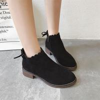 2018 Fashion Women Boots Ladies Footwear Spring and Autumn Ankle Boots Female Cotton High Heels Women Shoes JC279