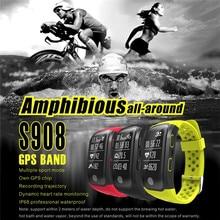 S908 умный Браслет IP68 Водонепроницаемый SmartBand GPS сердечного ритма Мониторы Фитнес трекер спортивные bluetooth браслет для iOS и Android