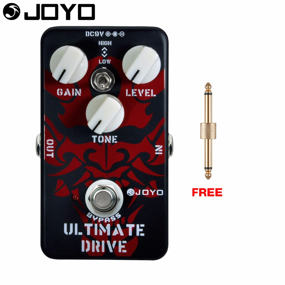 Joyo Ultimate Drive Electric Guitar Effect Pedal High and Low Tone Switch True Bypass JF-02 with Free Connector mooer hustle drive distortion guitar effect pedal micro pedal true bypass effects with free connector and footswitch topper