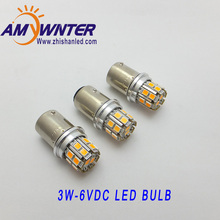 AMYWNTER P21W Ba15s 6V led 3W car-styling Lamp headlight bulb Car Lights Yellow white brake AMYWNTER