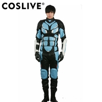 Coslive Jake Pentecost Costume Pacific Rim 2 Movie Cosplay Costume with Props PU Outfit for Halloween Show For Men Adult
