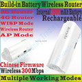 Chinesefirmware TENDA 4G300 беспроводной 300 Мбит 3 г 4 г портативный маршрутизатор 300 м путешествия WiFi внутренний 2600 мАч зарядное устройство TD / FDD-LTE модем