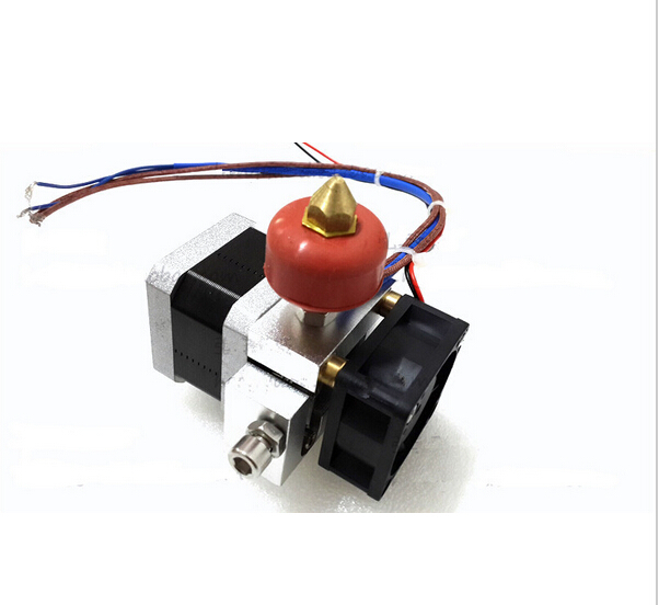 3D printer accessory single nozzle extruder kit with 100K thermistor working voltage 12V top quality free shipping flsun 3d printer big pulley kossel 3d printer with one roll filament sd card fast shipping