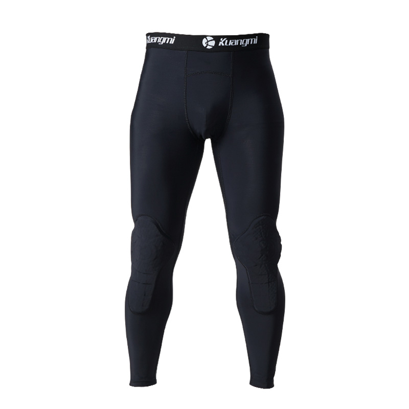 Kuangmi Men's Training Suit Running Soccer Training Tights Basketball Vest Protection crashproof Gym Sportswear Track Suits - 3