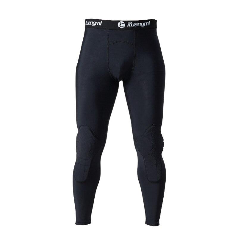 Kuangmi, мужской тренировочный костюм, для бега, футбола, тренировочные колготки, баскетбольный жилет, защита, Небьющийся, спортивная одежда, спортивные костюмы - 3