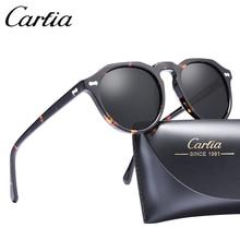 Carfia Gregory Peck Polarized Sunglasses Classical Brand Designer Vintage Sunglasses Men Women Round Sun Glasses 100% UV400 5266