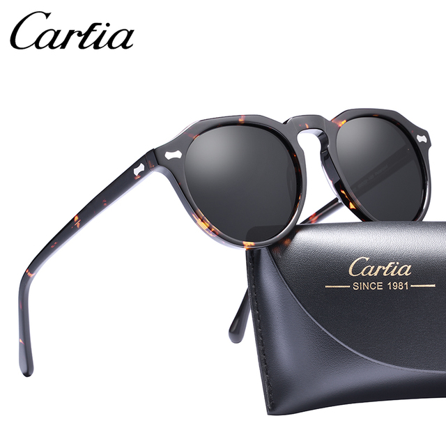 88eca8b1d46 Carfia Gregory Peck Polarized Sunglasses Classical Brand Designer Vintage  Sunglasses Men Women Round Sun Glasses 100