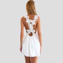 2017 New Women's Clothing Dress Summer Dress Short White Casual Style Sexy Wear Floral Stripe Vestido De Festa Free Shipping
