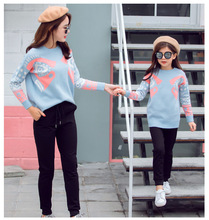 цены на Mother Daughter Sweaters Mommy and Me Clothes Family Matching Outfits Look Mom Mum Mama Daughter Sweaters Dresses Clothing  в интернет-магазинах