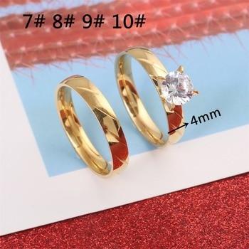 Luxury Female Bridal Wedding Ring Set Fashion Jewelry Promise Stone Engagement Rings For Women