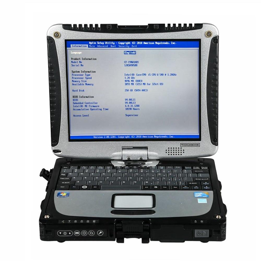 Военный сканер Toughbook CF 19 для Porschh, диагностический инструмент MB STAR C4 SD Connect C5, программное обеспечение HDD/SSD для ICOM A2 icom
