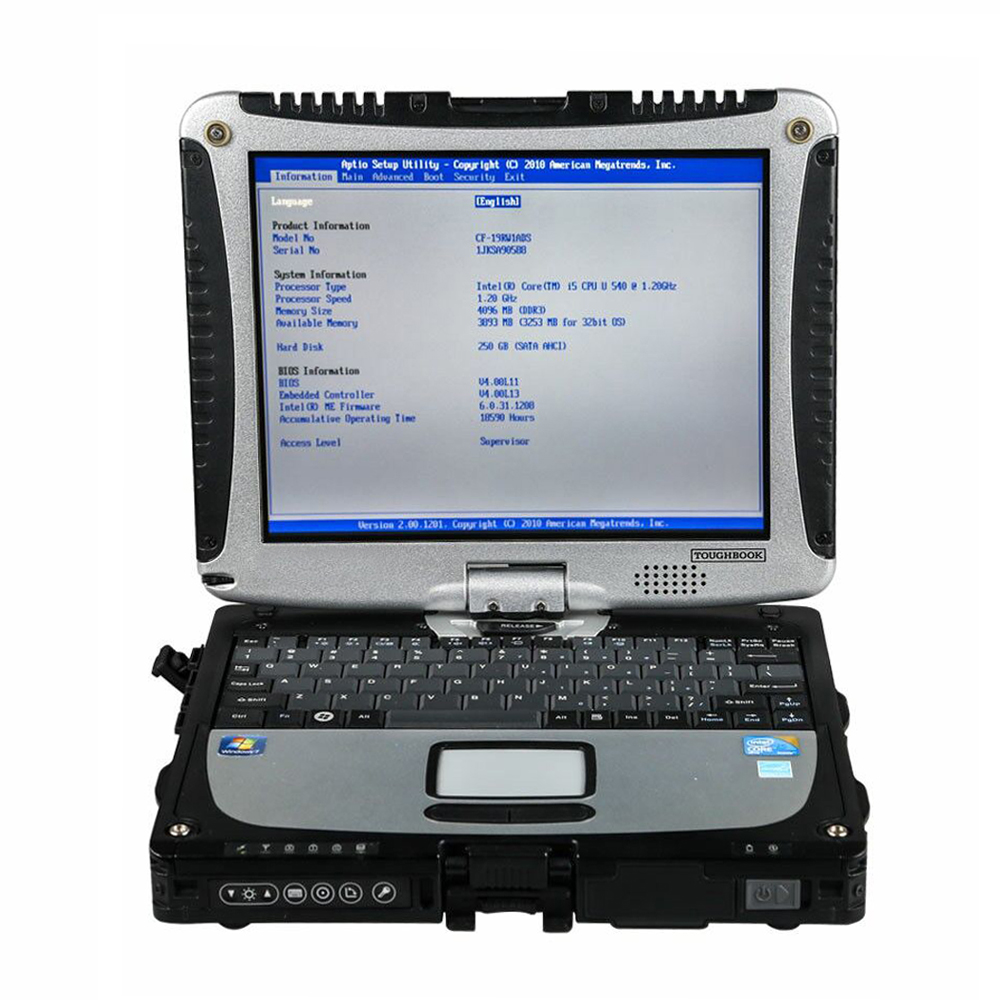 Military <font><b>Toughbook</b></font> <font><b>CF</b></font> <font><b>19</b></font> for Porschh Diagnostic Tool MB STAR C4 SD Connect C5 Software HDD/SSD for ICOM A2 icom next Car Scanner image