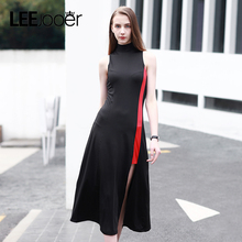 LEEJOOER 2017 New Summer Dress Women Fashion Elegant Party Black Dress European Style Sexy Club Streetwear Women Dresses
