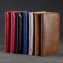 FLOVEME Universal Genuine Leather Wallet For iPhone X 8 7 6 6s Plus For Samsung Galaxy Note 8 S8 Plus S7 S6 Edge Pouch Case Bag