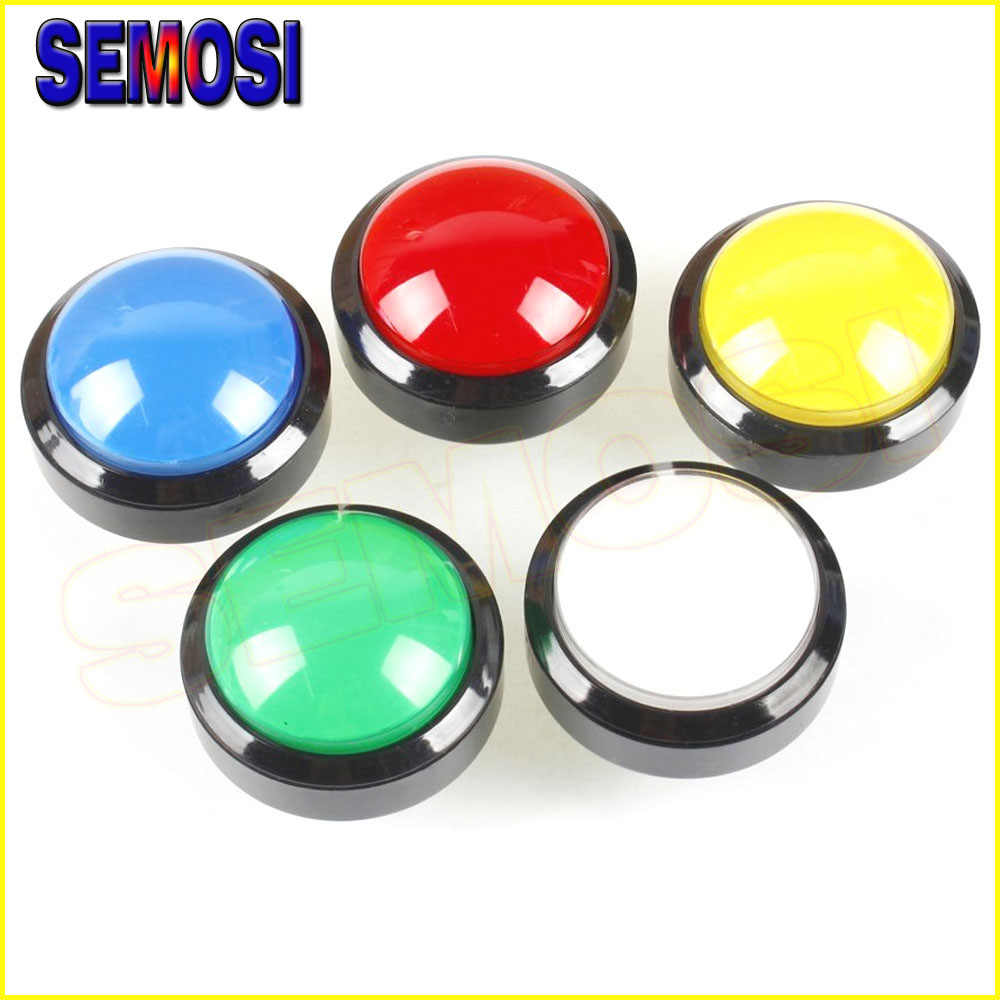 5pcs / Lot 60mm Dome Shaped LED Illuminated Arcade Button with Microswitch For Arcade Game Coin Machine
