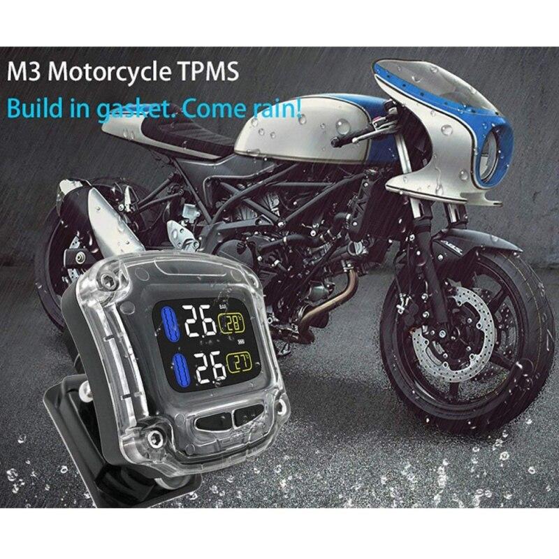 New Motorcycle TPMS Tire Pressure Monitoring System TPMS Motorcycle Tire Pressure Sensor Universal External Sensors