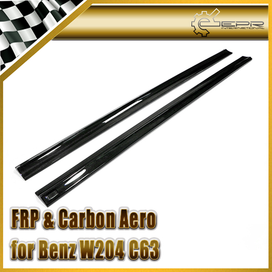 Car-styling For Mercedes-Benz W204 C63 Revo RBS II Style Carbon Fiber Side Skirt Extension (Sedan or Coupe)