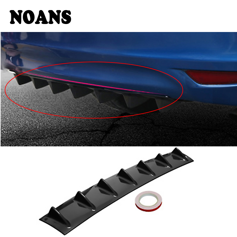 NOANS Car Rear Bumper Chassis Shark Wings Deflector Modified Spoiler For BMW E46 E39 E90 E60 Toyota Corolla Nissan Qashqai J11 in Exhaust Assembly from Automobiles Motorcycles