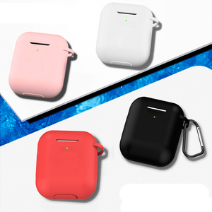 Image 2 - Solid Color Silicone Case for Airpods 2 Cute Protective Earphone Cover for Apple Airpods 2 Wireless Charging Box Shockproof Case