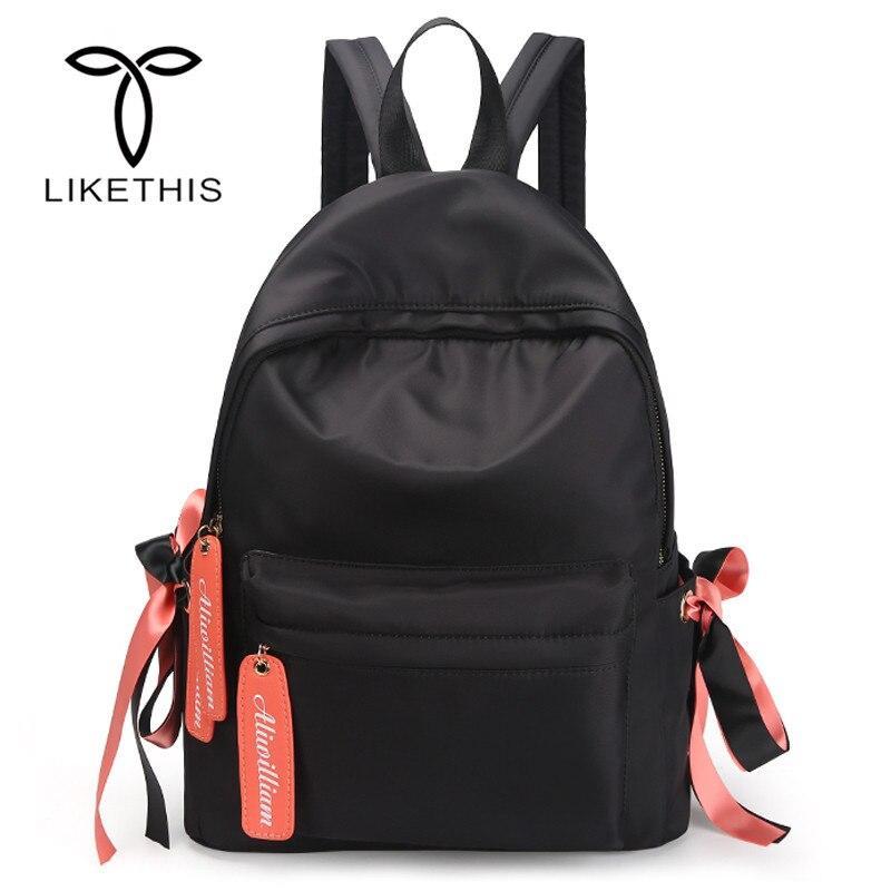 Women Ultralight Backpack For School Teenagers Girls Lady Stylish School Bag Ladies Cotton Fabric Backpack Female Bookbag168-360