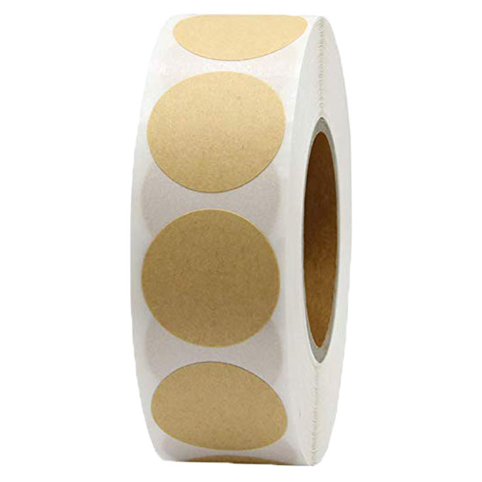 1 pouce blanc rond artisanat autocollants joint étiquettes 500 étiquettes par rouleau theacher autocollants faciles à poser pour paquet adesivo autocollant papeterie