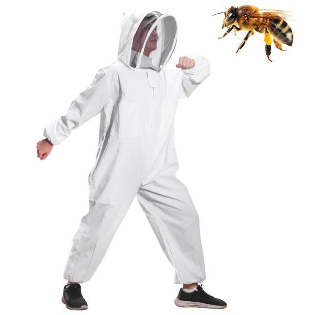 Cotone Full Body Apicoltura Abbigliamento Velo Cappuccio Guanti Cappello Vestiti