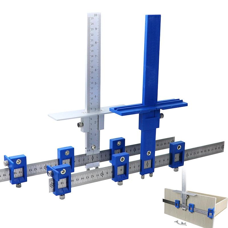 Cabinet Hardware Jig Drill Guide Sleeve Puncher Locator Jig Set Wood Drilling Doweling Hole Door Furniture