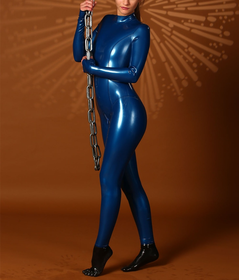 Blue Latex Suit 28