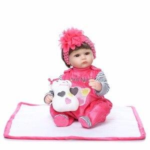 Image 2 - NPK reborn doll, 43 см, мягкий силикон, reborn baby dolls com corpo de silicone, подарки на Рождество