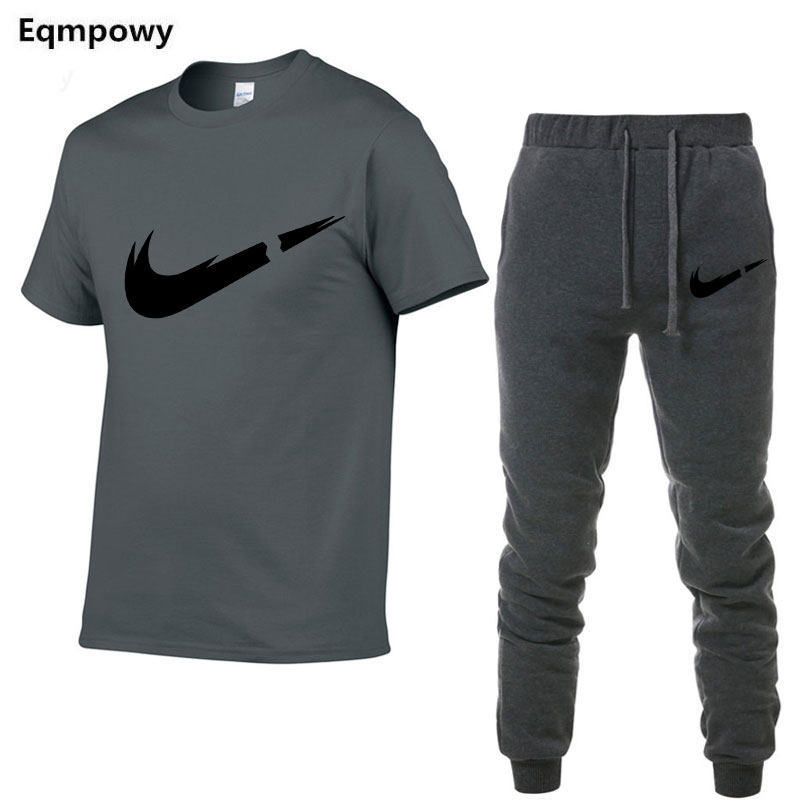 HTB1.7jSa13tHKVjSZSgq6x4QFXaF 2019 Summer New Men's T shirt Tracksuit Casual Suits gym Clothing Man Sets Tops+Pants Male sweatshirt Men Brand T Shirt Set