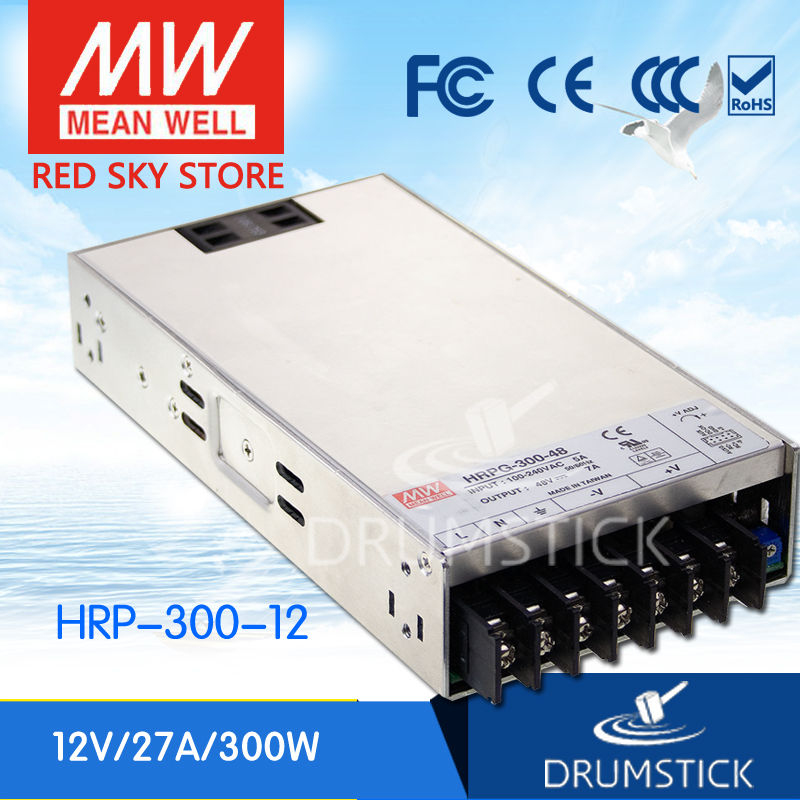 prosperity MEAN WELL HRP-300-12 12V 27A meanwell HRP-300 12V 324W Single Output with PFC Function  Power Supply