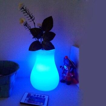 Новые цветочные горшки D16 * H16cm 16 цветов Светящиеся в темноте освещенные вазы для украшения Бесплатная доставка 1 шт