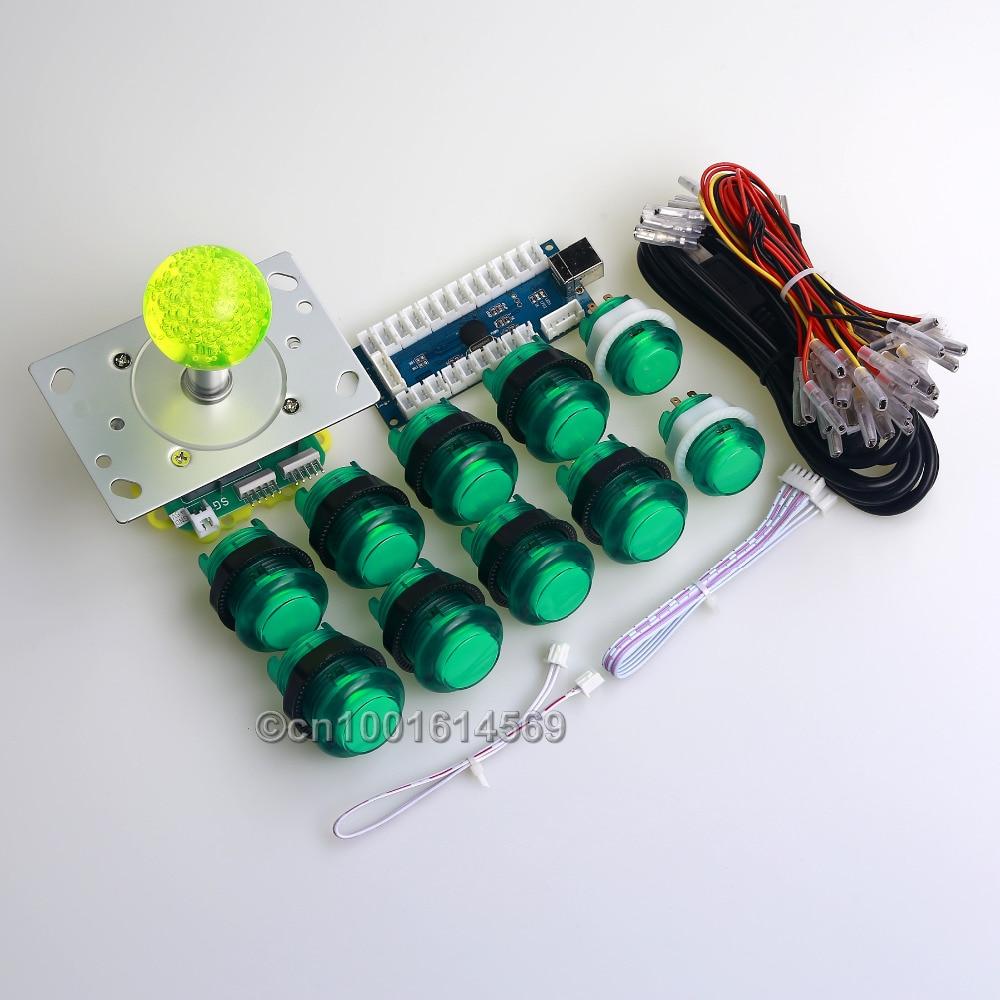 Easyget Arcade DIY Kits de Piezas Encoder USB + 2/4/8 Modo de Joystick + 10 X LE