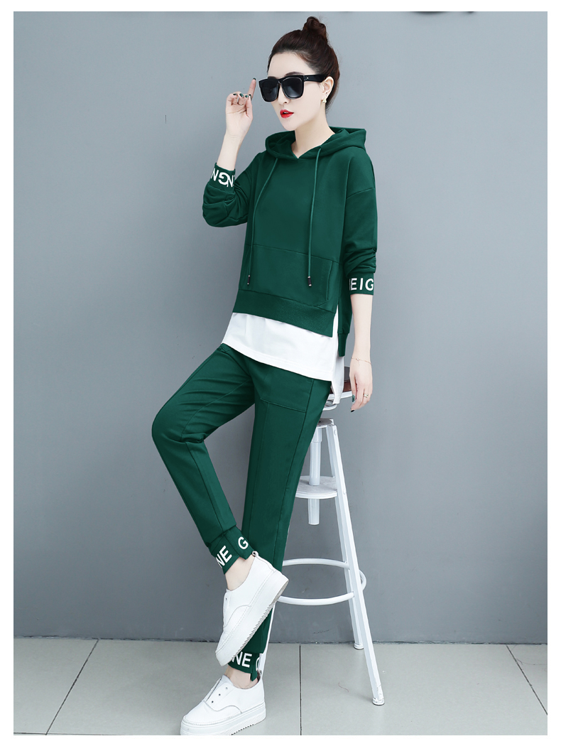 Autumn Sport Two Piece Sets Tracksuits Outfits Women Plus Size Hooded Sweatshirts And Pants Korean Casual Fashion Matching Sets 64