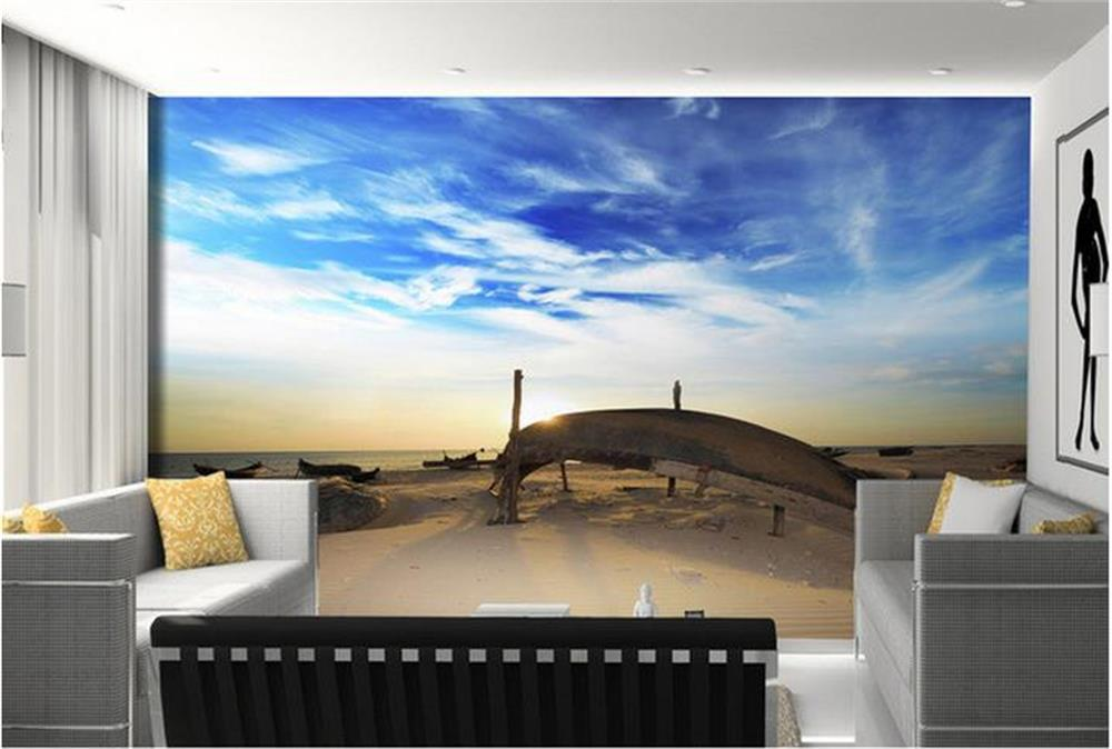 3D wallpaper/custom photo wall paper/Boat wooden photography background wall/TV/sofa/Bedroom/KTV/Hotel/living room/Children room