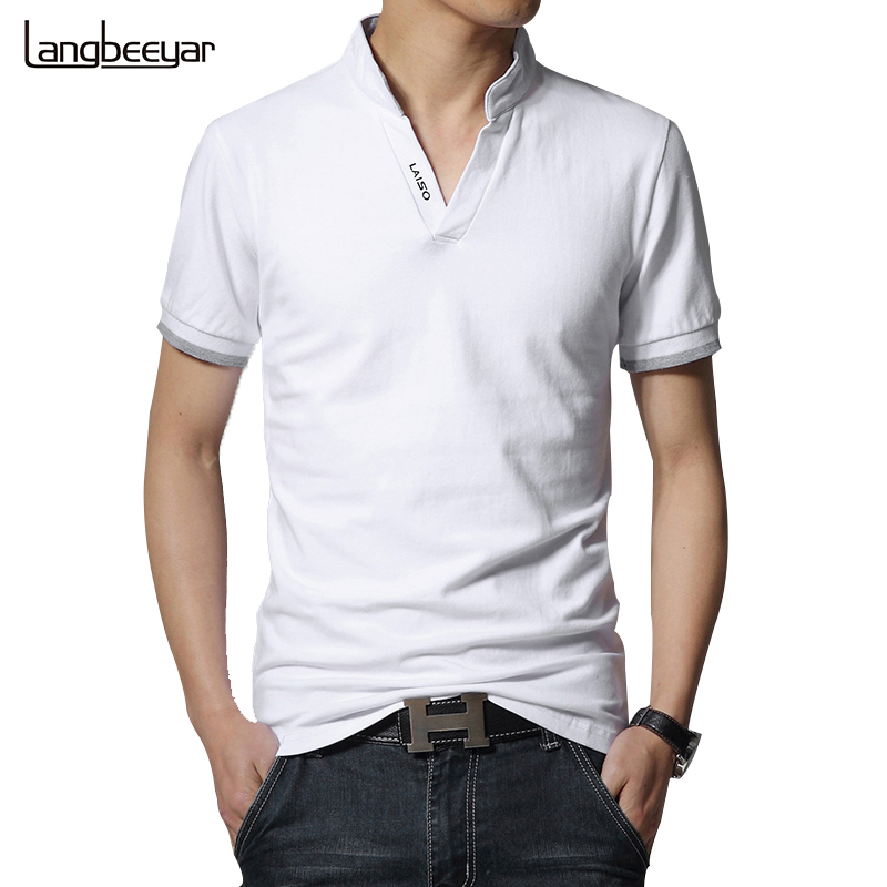 Hot sale 2017 new summer fashion mens t shirts v for Latest shirts for mens 2017