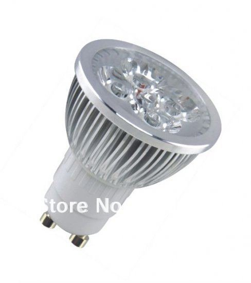 Wholesale - GU10 White LED soptlight spot light lighting cup lamp high power 220V 4W free shipping