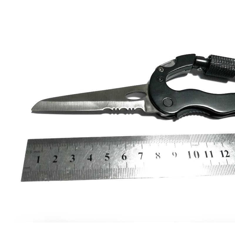 Открытый многофункциональный инструмент для повседневного использования 5 в 1 с отверткой для ножа алюминиевый карабин для скалолазания с крючком мульти инструмент Пряжка рок замок