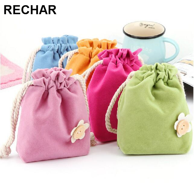 Flowers Coin Purse Drawstring HandBag Pocket Candy Color Small Debris Consolidation Package Travel Bag For Phone Earphone Line european integration and democratic consolidation