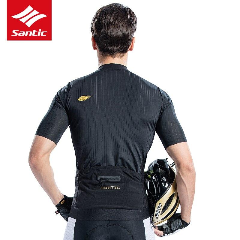 2018 SANTIC Sommer Männer Radfahren Jersey Kurzarm MTB Fahrrad Kleidung für Herren Downhill Kleidung Schwarz Tops Jersey Atmungsaktiv - 4