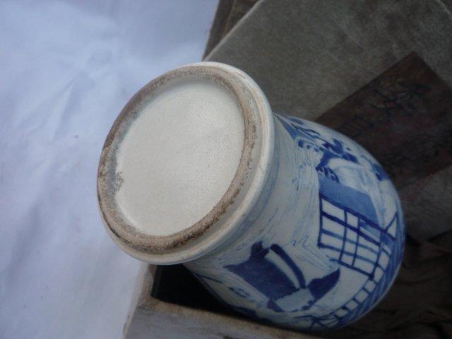 kolekcija Qing dinastijos mėlynos ir baltos porceliano vaza (Pekino - Namų dekoras - Nuotrauka 6