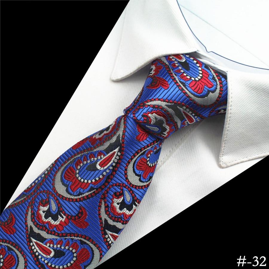GUSLESON Silk Men Tie 8cm Plaid Paisley Neck Hubungan untuk Lelaki - Aksesori pakaian - Foto 5