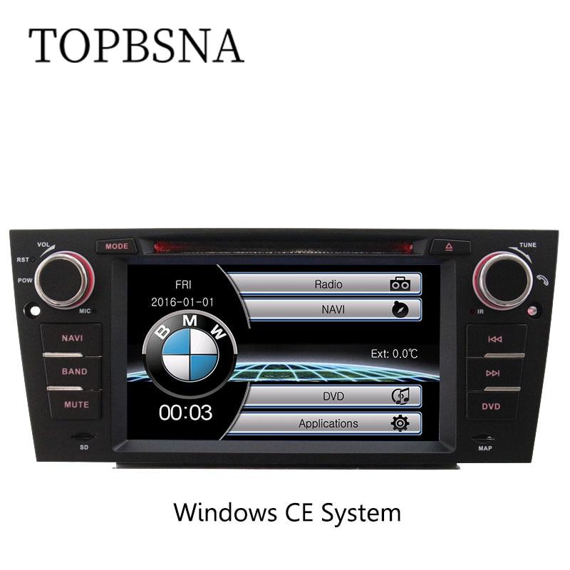 TOPBSNA 7 inch Car DVD Player For BMW 3 series E90 E91 E92 E93 2006 2012 GPS Navigaiton Steering Wheel Control RDS Free map FM
